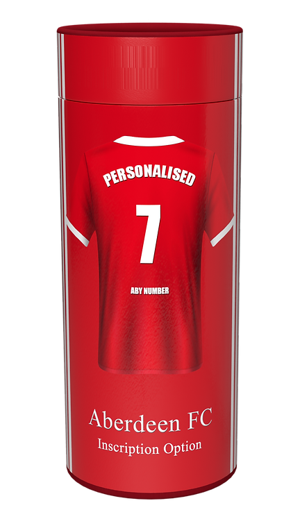 Custom Personalised Cremation Ashes Casket Urn Scatter Tube FOOTBALL TEAM ABERDEEN FC