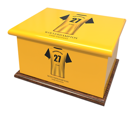 Custom Personalised Cremation Ashes Casket Urns FOOTBALL TEAM WOLVERHAMPTON WANDERERS WOLVES