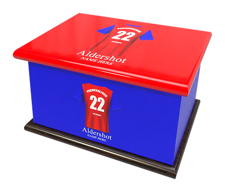 Custom Personalised Cremation Ashes Casket Urn FOOTBALL TEAM ALDERSHOT