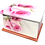 Personalised Custom FLORAL PINK ROSE BUD Cremation Ashes Casket and Keep-Sake Urns