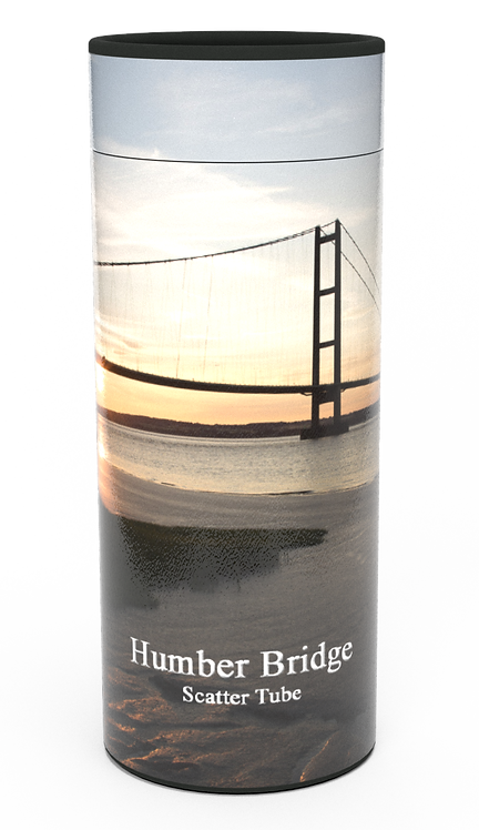 Custom Personalised Cremation Ashes Casket Urn Scenic Landscape HUMBER BRIDGE