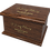Ashes Casket in Solid Wood effect range of Personalised Custom MAHOGANY Effect Cremation Ashes Casket sonalised designs