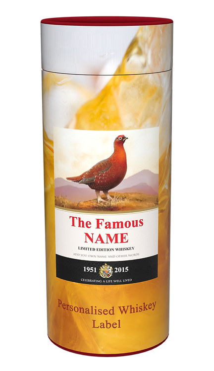 Custom Personalised Cremation Ashes Casket Scatter Tube WHISKEY FAMOUS GROUSE