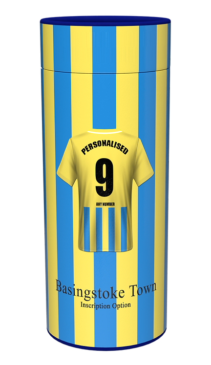 Custom Personalised Cremation Ashes Casket Scatter Tube FOOTBALL TEAM BASINGSTOKE TOWN FC