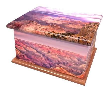 Custom Personalised Cremation Ashes Casket Urn GRAND CANYON