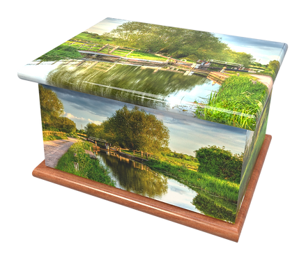 Custom Personalised Cremation Ashes Casket urn CANAL
