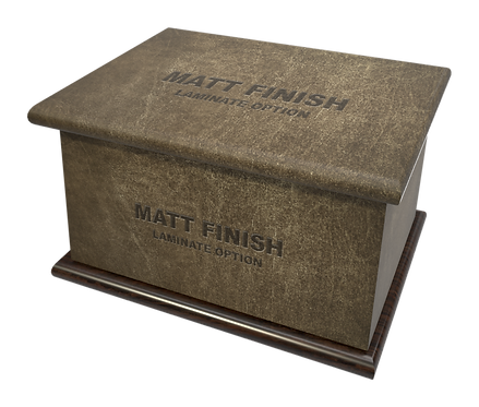 Custom Personalised Cremation Ashes Casket in LEATHER EFFECT
