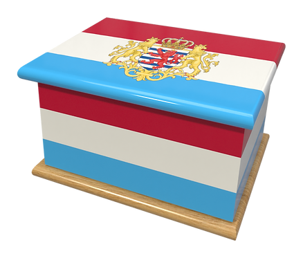 Personalised Custom Cremation Ashes Caskets COUNTRY AND BRITISH COUNTY FLAGS LUXEMBOURG