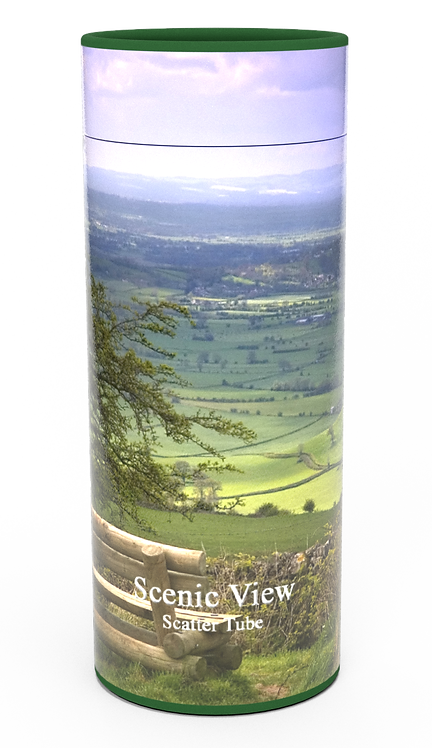 Custom Personalised Cremation Ashes Casket Urn Scenic Landscape SCENIC VIEW