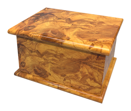 Personalised Custom OLIVE Wood Effect Cremation Ashes Casket