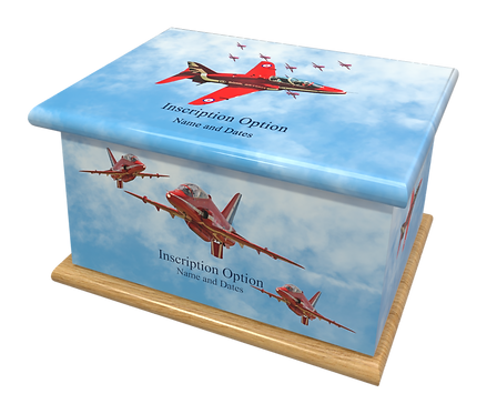Custom Personalised Cremation Ashes Casket MILITARY RAF NAVY ROYAL MARINES RED ARROWS