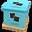Thumbnail: Pet Ashes Casket LEATHER (POWDER BLUE)
