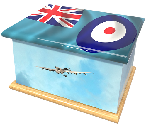 Personalised Custom Cremation Ashes Caskets and Keep-Sake Urns in a MILITARY ARMY NAVY AIRFORCE designign