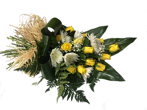 Funeral Tributes Floral Sympathy Flowers, Yellow Roses