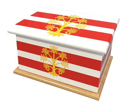 Personalised Custom Cremation Ashes Caskets COUNTRY AND BRITISH COUNTY FLAGS WESTMORLAND
