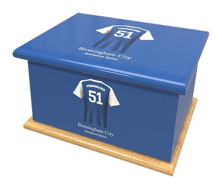 Custom Personalised Cremation Ashes Casket Urn FOOTBALL TEAM BIRMINGHAM CITY