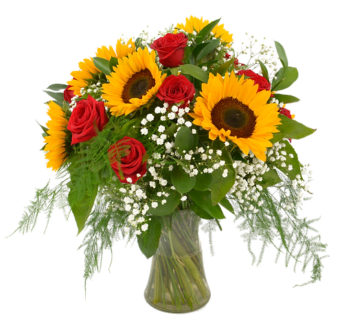 Sunflower and Rose Arrangement . . starting from