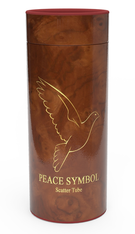 Custom Personalised Cremation Ashes Casket Urn PEACE SYMBOL
