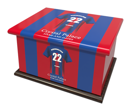 Custom Personalised Cremation Ashes Casket Urn FOOTBALL TEAM CRYSTAL PALACE