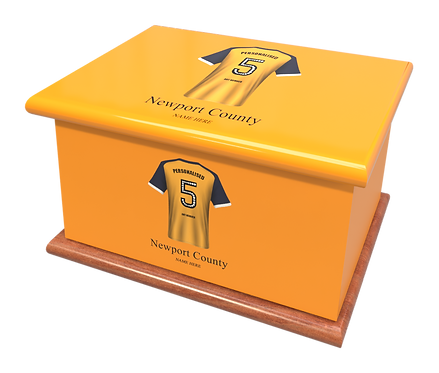 Custom Personalised Cremation Ashes Casket Urn FOOTBALL NEWPORT COUNTY