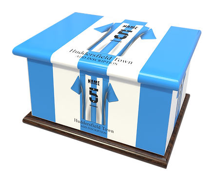 Custom Personalised Cremation Ashes Casket Urn FOOTBALL HUDDERSFIELD TOWN