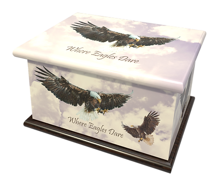 Personalised Custon Cremation Ashes Casket and Keep-Sake in EAGLE BIRD design