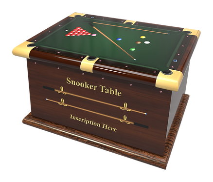 Custom Personalised Cremation Ashes Caskets Containers and Urns SNOOKER POOL BILLIARDS