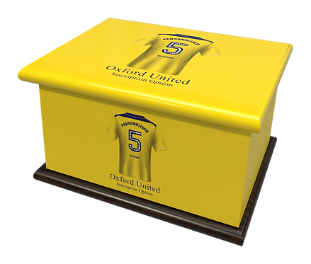 Custom Personalised Cremation Ashes Casket Urn FOOTBALL TEAM OXFORD UNITED