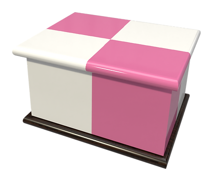Personalised Ashes Casket Urn in Geometric design