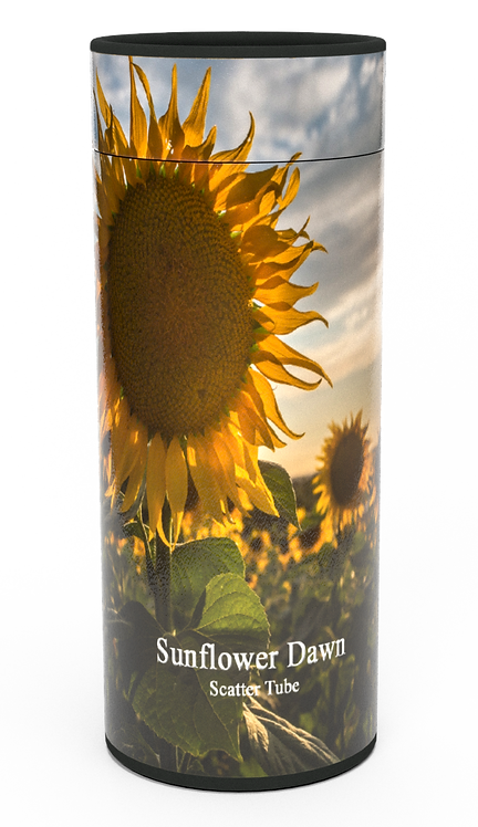 Custom Personalised Funeral Cremation Ashes Casket Urn Floral Flower Designs  SUNFLOWERS