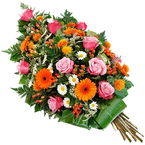 Funeral Tributes Floral Sympathy Flowers Single Ended Spray