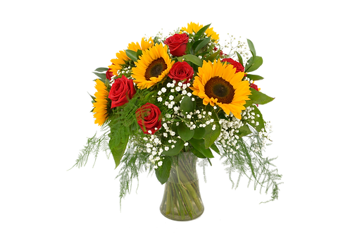 Sunflower and Rose Bouquet . . .starting from