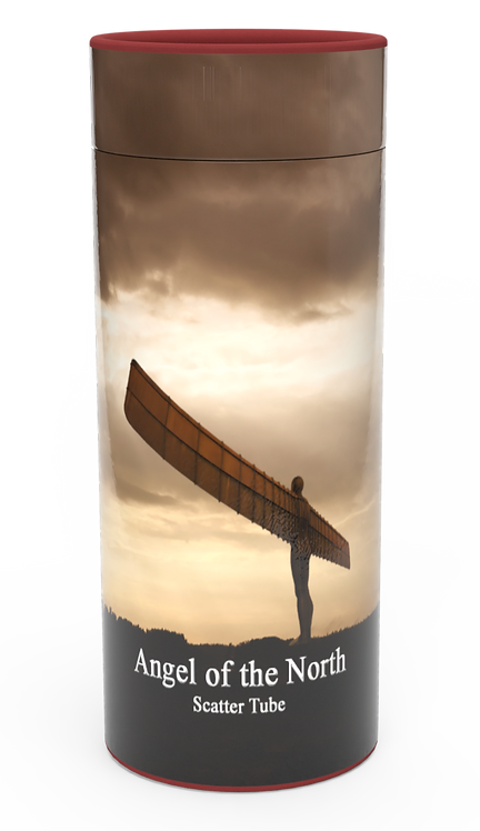 Custom Personalised Cremation Ashes Casket Urn Scenic Landscape ANGEL OF THE NORTH