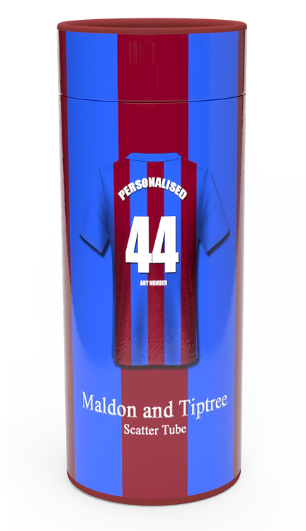 Custom Personalised Cremation Ashes Casket Urn FOOTBALL TEAM MALDON AND TIPTREE