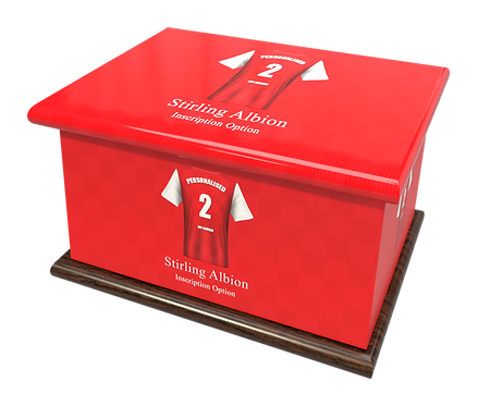 Custom Personalised Cremation Ashes Casket Urn FOOTBALL TEAM STIRLING ALBION