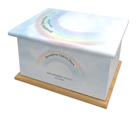 Custom Infant Child Junior Baby Cremation Ashes Casket RAINBOW