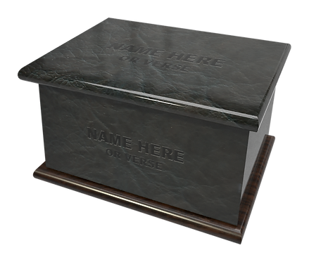 Personalised Cremation Ashes Urns in a Leather effect in a range of colours