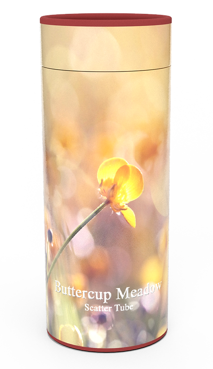 Custom Personalised Funeral Cremation Ashes Casket Urn Floral Flower Designs  BUTTERCUP MEADOW