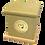 Custom Personalised PET Animal Cat Dog Ashes Casket Urn In Glitter Design