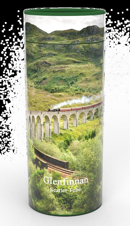 Custom Personalised Cremation Ashes Casket Urn Scenic Landscape GLENFINNAN