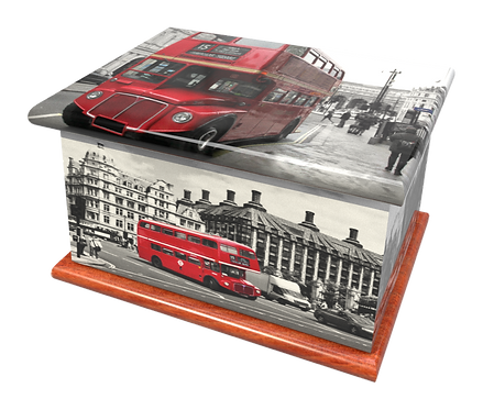 Custom Personalised Bespoke Cremation Ashes Casket LONDON BUS ROUTE MASTER