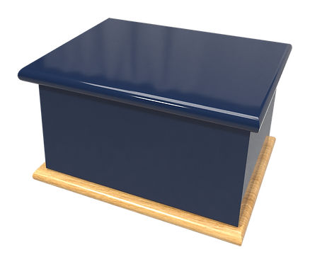 Custom Personalised Bespoke Cremation Ashes Casket DARK NAVY ROYAL BLUE