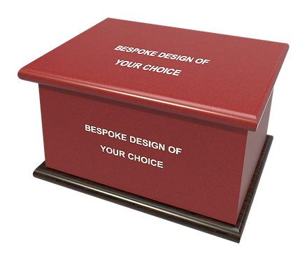 Personalised Custom Cremation Ashes Caskets and Urns in any design