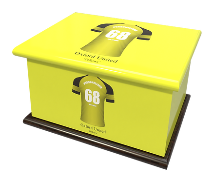 Personalised Ashes Caskets and Urns in Football Team Colours Oxford