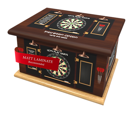 Custom Personalised Cremation Ashes Casket Urn DARTS
