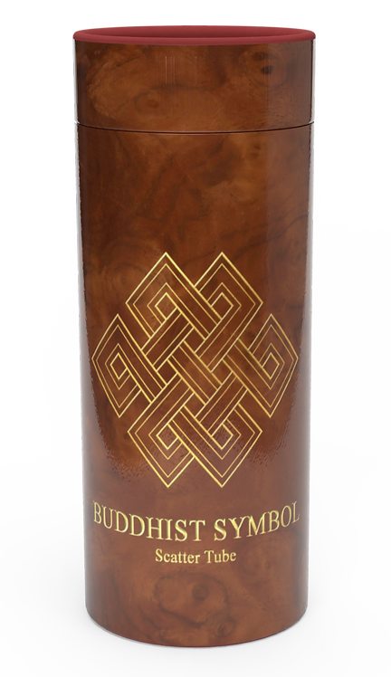 Custom Personalised Cremation Ashes Casket Urn BUDDHIST SYMBOL