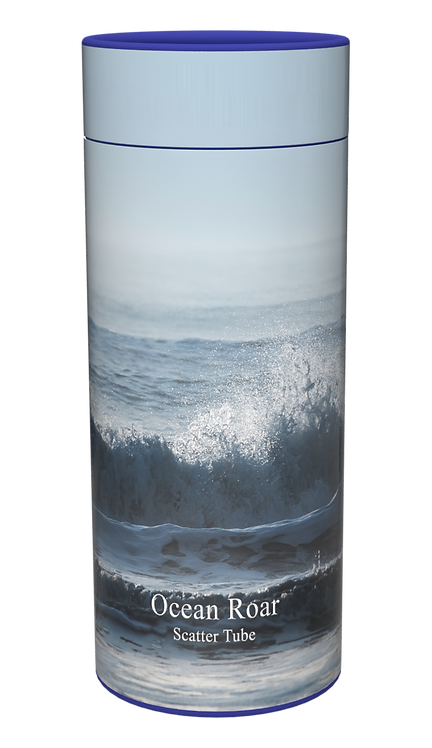 Custom Personalised Cremation Ashes Casket Urn OCEAN SEA NAVY WAVES