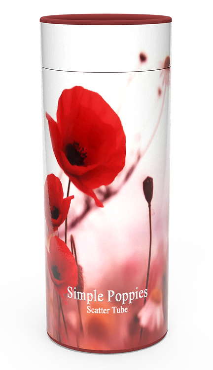 Custom Personalised Funeral Cremation Ashes Casket Urn Floral Flower Designs  SIMPLE POPPIES