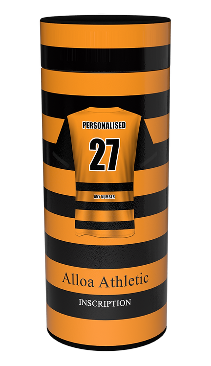 Custom Personalised Cremation Ashes Casket Scatter Tube FOOTBALL TEAM ALLOA ATHLETIC FC
