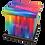 Personalised Custon Cremation Ashes Casket and Keep-Sake in PRIDE LGBTQI design